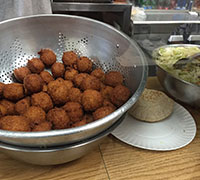 The famous falafel balls. So good.